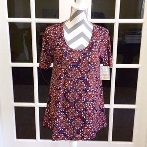 Lularoe Perfect T w/ Tribal Print size: XS